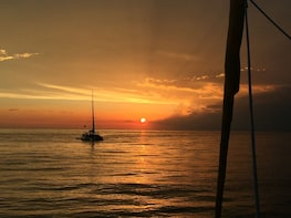 "Sunset Sail on the ""Footloose"" Catamaran"