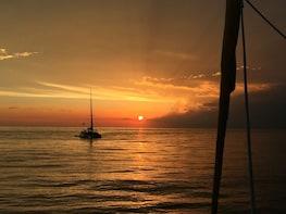"Sunset Sail on the ""Footloose"" Catamaran"