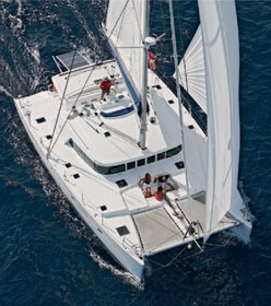 Aerial view of the Hawaii Nautical yacht