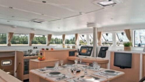 Aboard the Hawaii Nautical yacht in Kona
