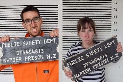 Tourists at Napier Prison