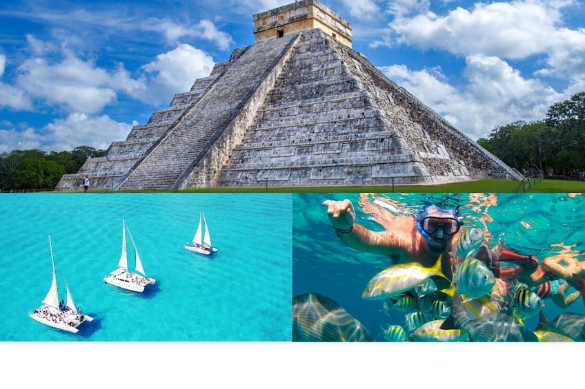 Show item 3 of 8. 2 for 1: Chichen Itza & Catamaran to Isla Mujeres