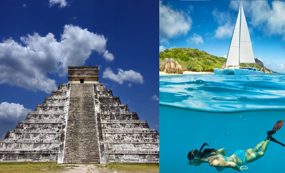 Show item 4 of 8. 2 for 1: Chichen Itza & Catamaran to Isla Mujeres