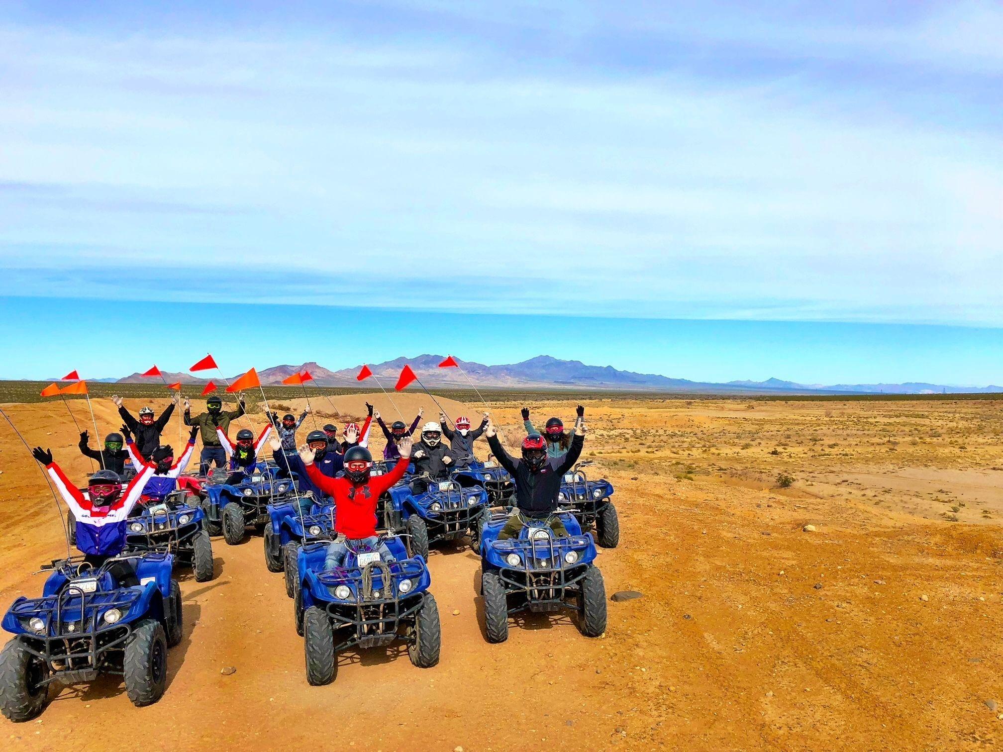 4 Hour Mojave Desert Quad bike Tour with Hamburger Lunch