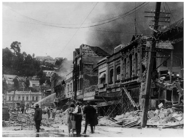 Historic photo of Hastings earthquake in New Zealand