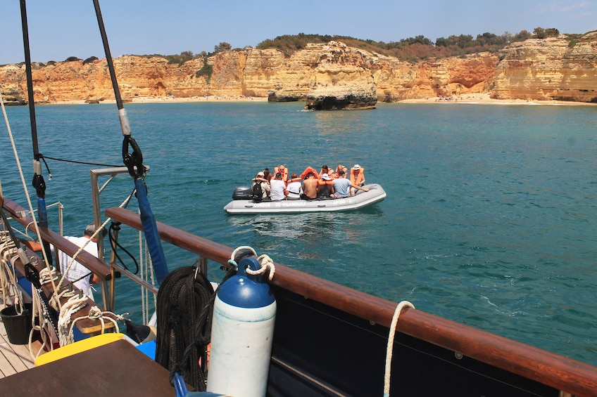 Show item 2 of 7. Guests on a raft in Quarteira