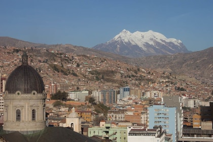 City and mountains in La Paz
