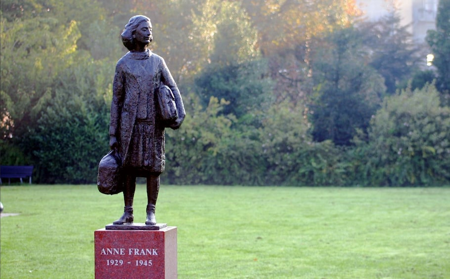 Show item 2 of 6. Statue of Anne Frank in Amsterdam