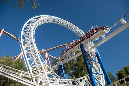 Roller coaster at Six Flags Magic Mountain in Valencia