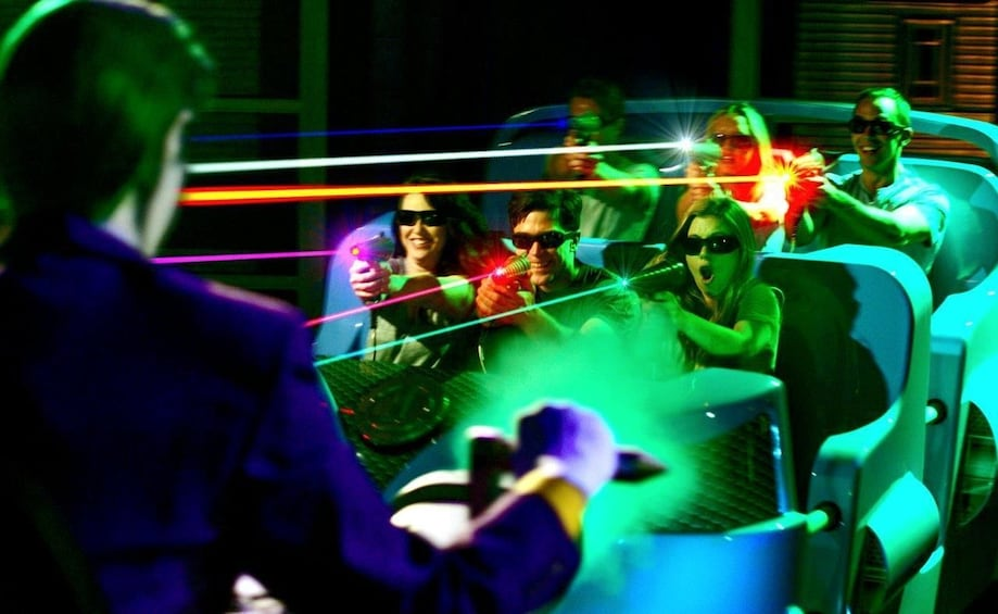 Laser ride at Six Flags California
