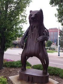 Sculpture of a Bear on two legs