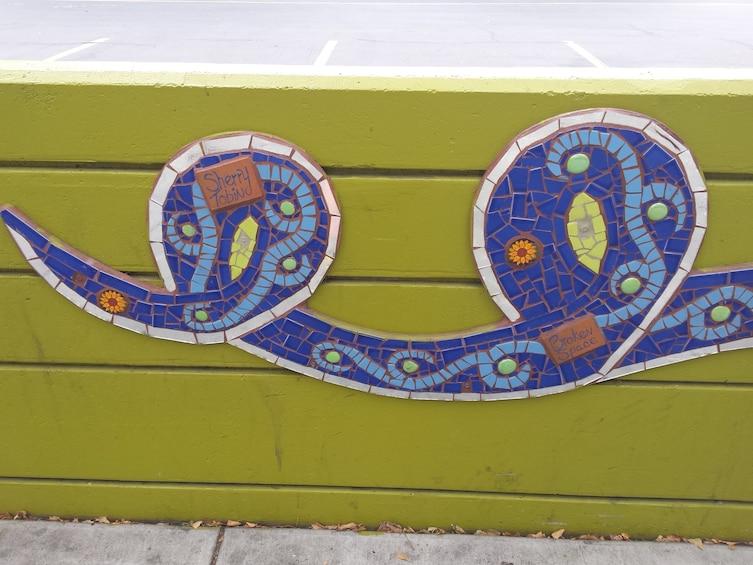 Show item 4 of 10. Close view of a motif in San Jose
