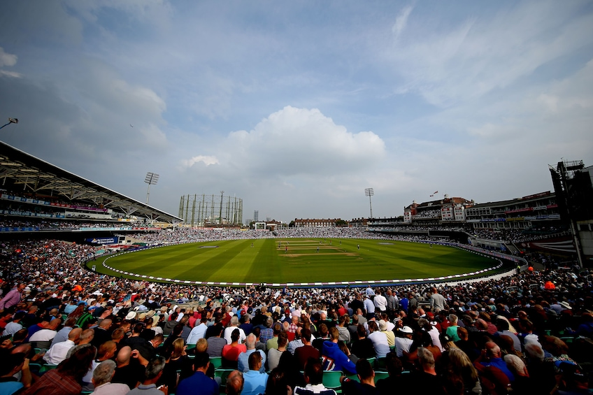 Show item 2 of 8. View from the stands of the Kia Oval Grounds
