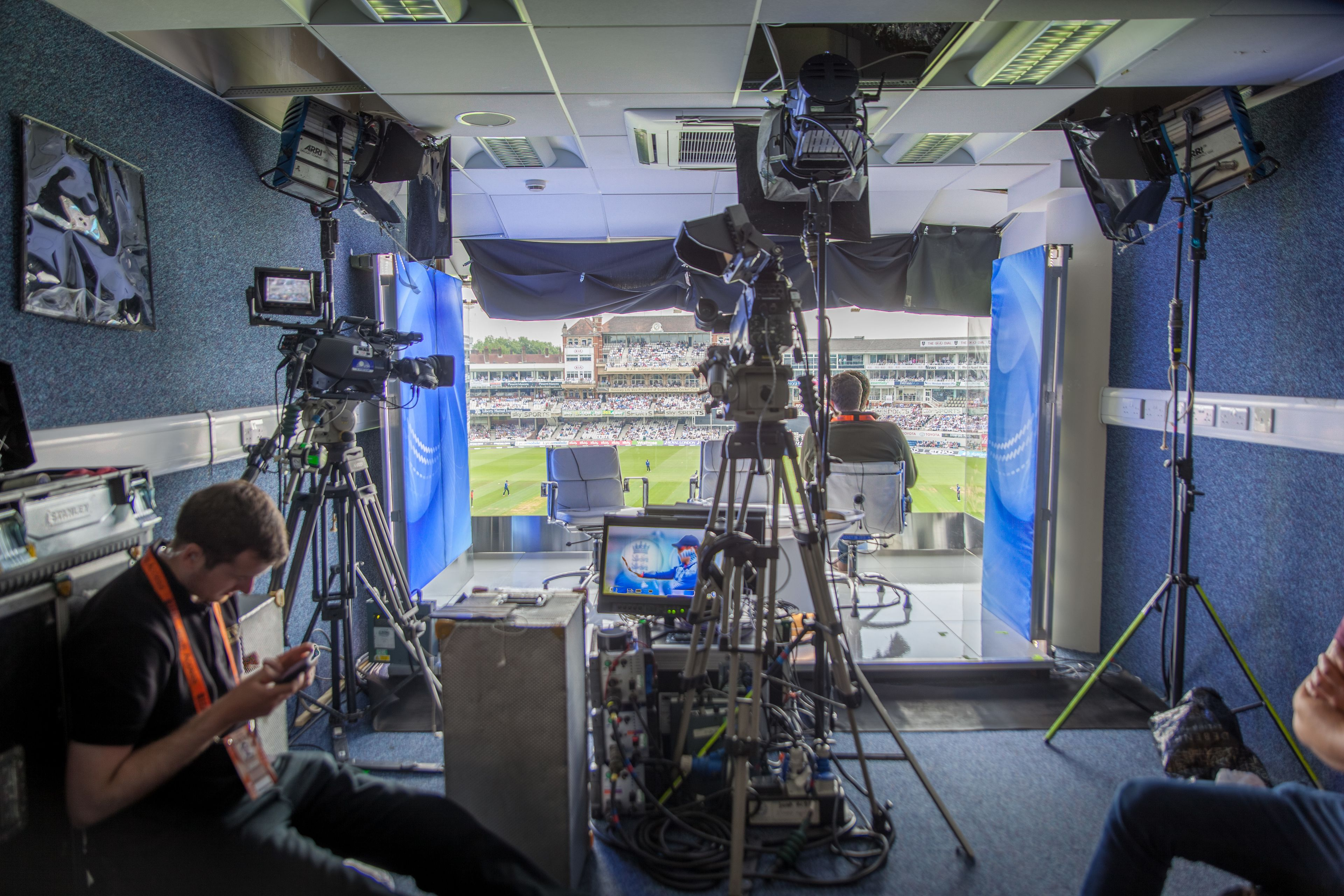 Television set in the Kia Oval Grounds