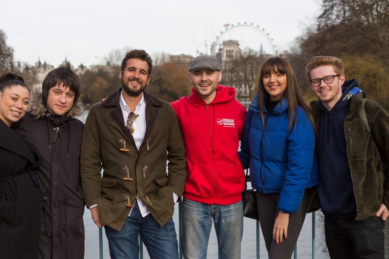 Tour group in London
