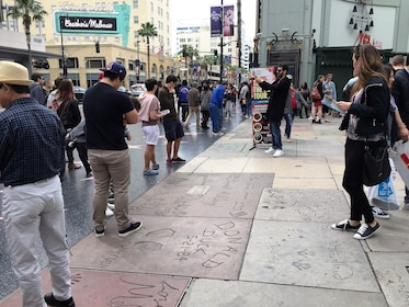 Famous hand prints outside the Chinese Theater in LA