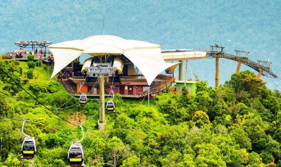 Show item 1 of 3. Aerial view of Langkawi Cable Car