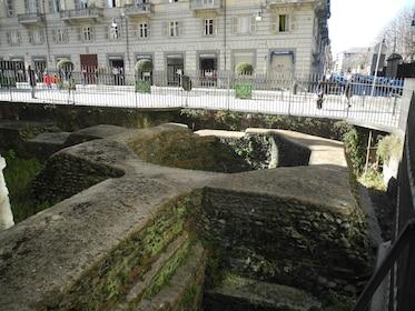 Roman ruins in Turin, Italy
