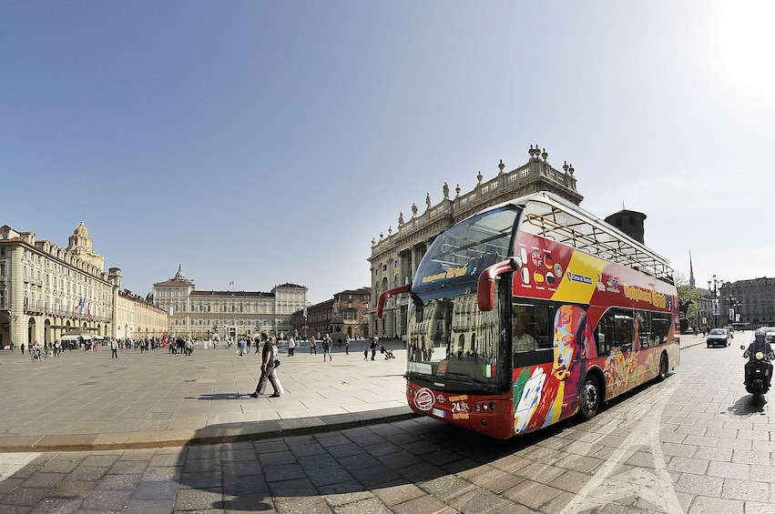 Hop-on hop-off bus in Torino