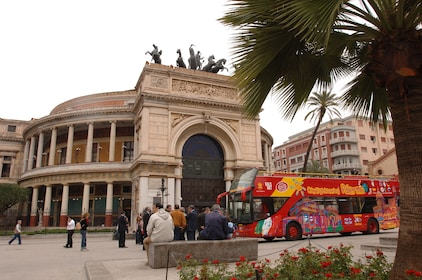 Teatro Politeama, Palermo with City Sightseeing Bus