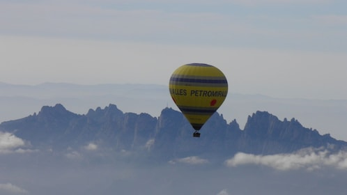 Hot Air Balloon over Montserrat, Spain