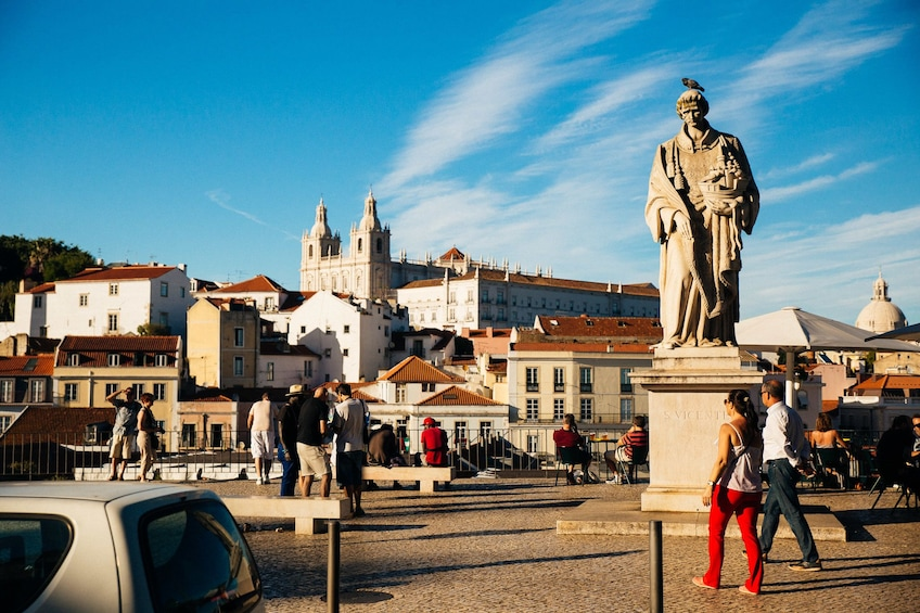 Show item 10 of 10. Large statue in Lisbon, Portugal
