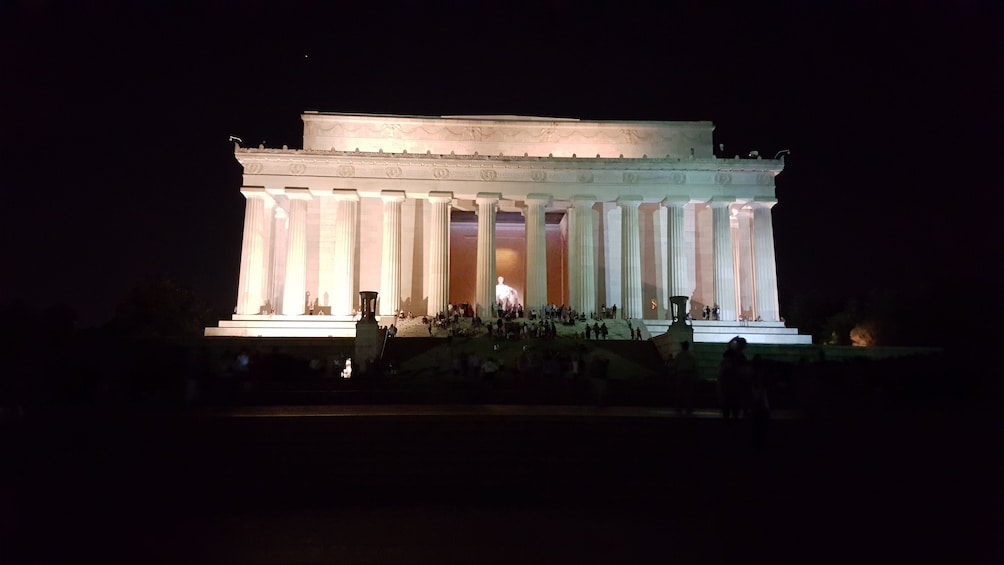 Show item 3 of 6. Lincoln Memorial lit up at night in Washington D.C.