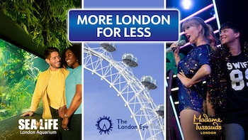 Billet London Big - London Eye, Madame Tussauds et SEA LIFE