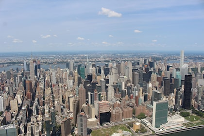 Aerial view of New York City during the day