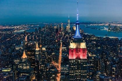 Night skyline view of New York City