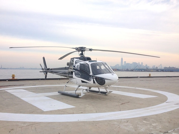 Show item 1 of 4. Helicopter on the landing pad in New York