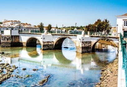 Bridge over the Gilão River in Tavira, Portugal