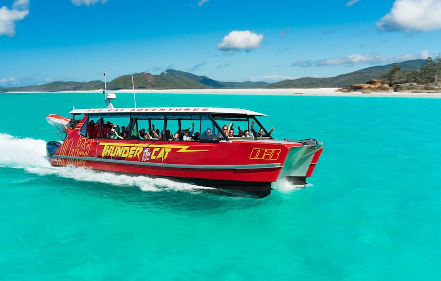 Show item 1 of 9. Full Day Whitsundays Catamaran Tour with Reef Snorkelling