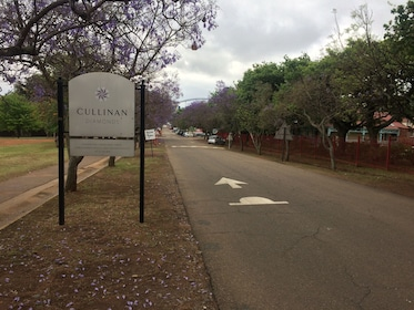 Road leading to Cullinan Diamond Mine in South Africa