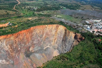 Aerial view of a diamond mine in South Africa