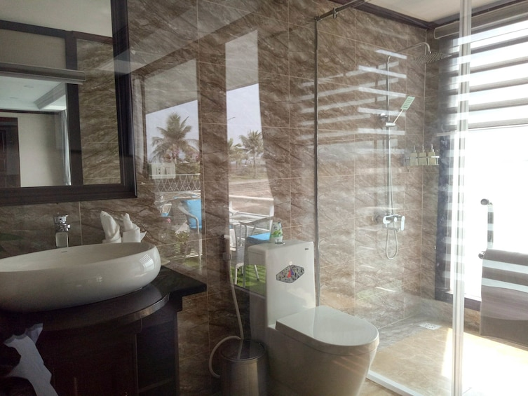 Show item 2 of 10. Bathroom on a cruise ship in Vietnam