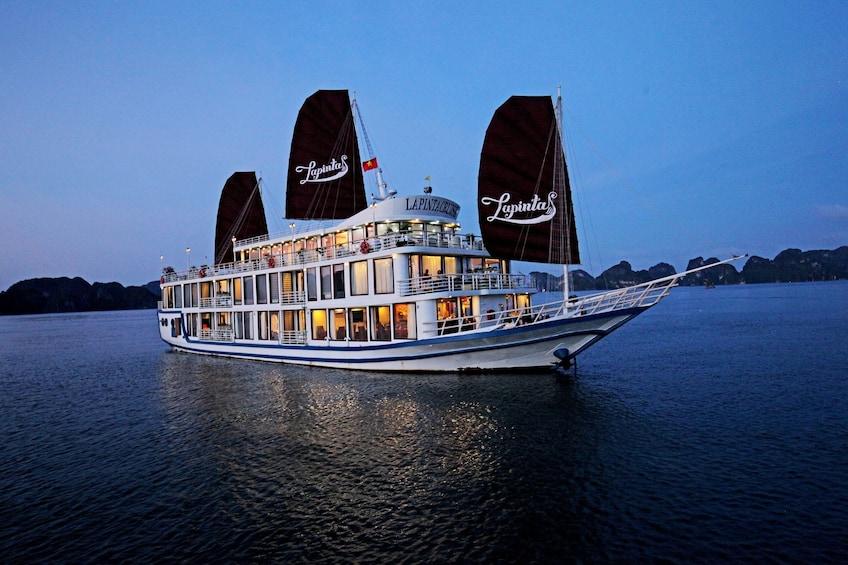 Show item 1 of 10. Small cruise ship near Halong Bay