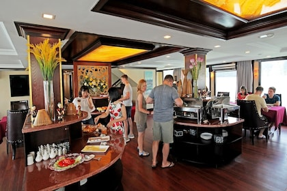 Buffet on a cruise ship in Vietnam