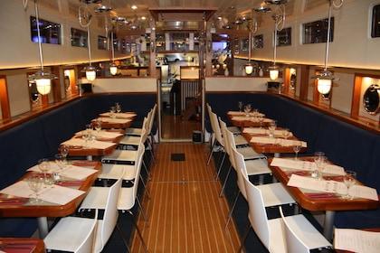 Canal boat restaurant in Dublin