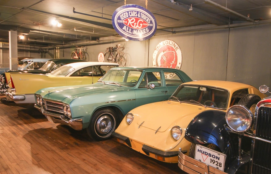 Show item 9 of 9. Vintage cars at Canadian Automative Museum in Toronto