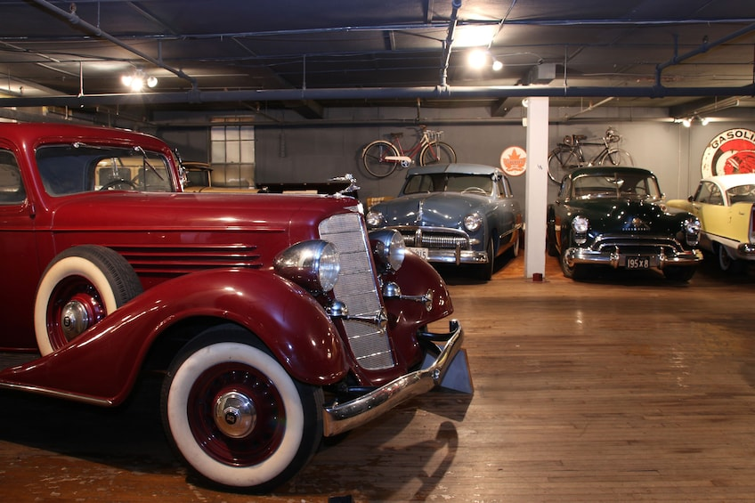 Vintage cars at Canadian Automative Museum in Toronto