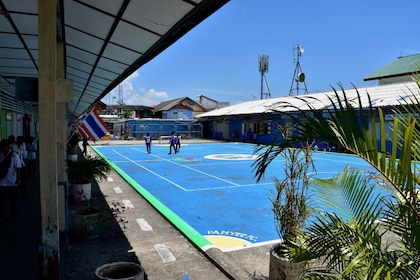Court at sports club on Panyee Island in Thailand