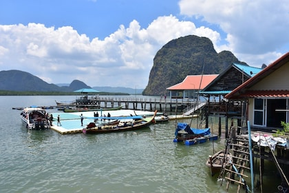Boating dock on island in Thailand