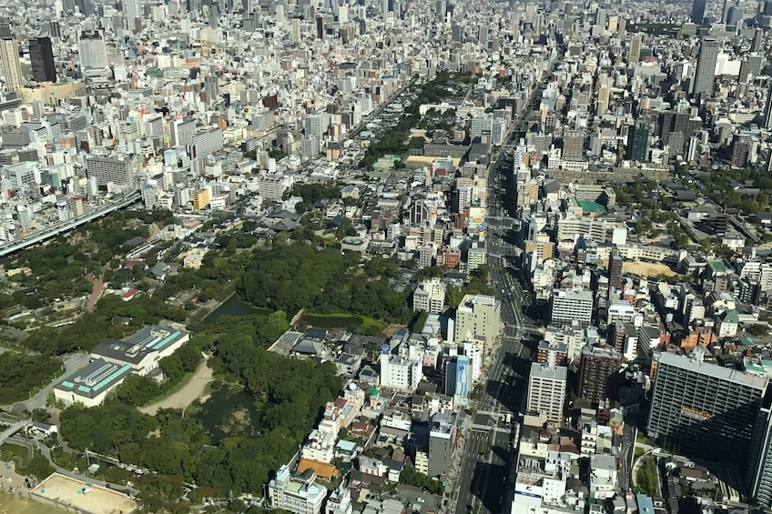 Show item 1 of 10. Aerial photo of Osaka during the day