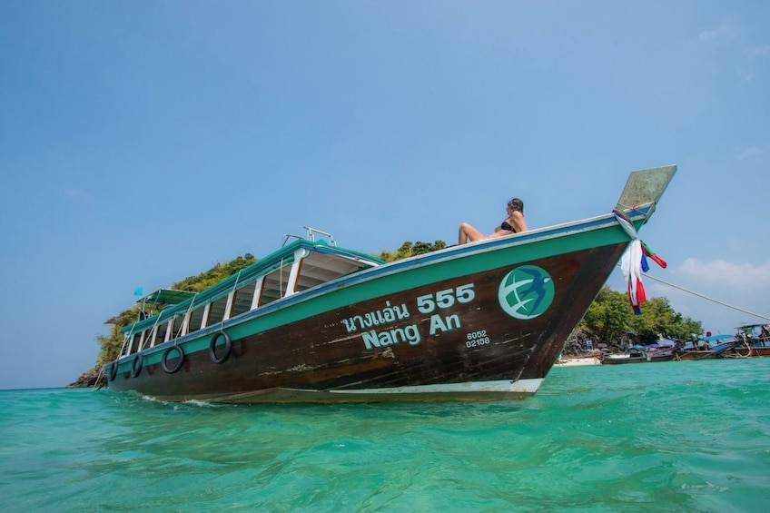 Show item 1 of 10. 4 Island Tour by Traditional Big Longtail Boat from Krabi