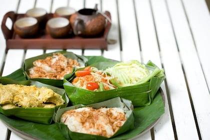 Plate of food at the Waree Raksa Hot Spring Spa in Krabi Rainforest