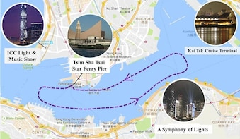 """Star Ferry's Water Tour """"ICC Light Μsic Show"""" and """"SOL"""""""