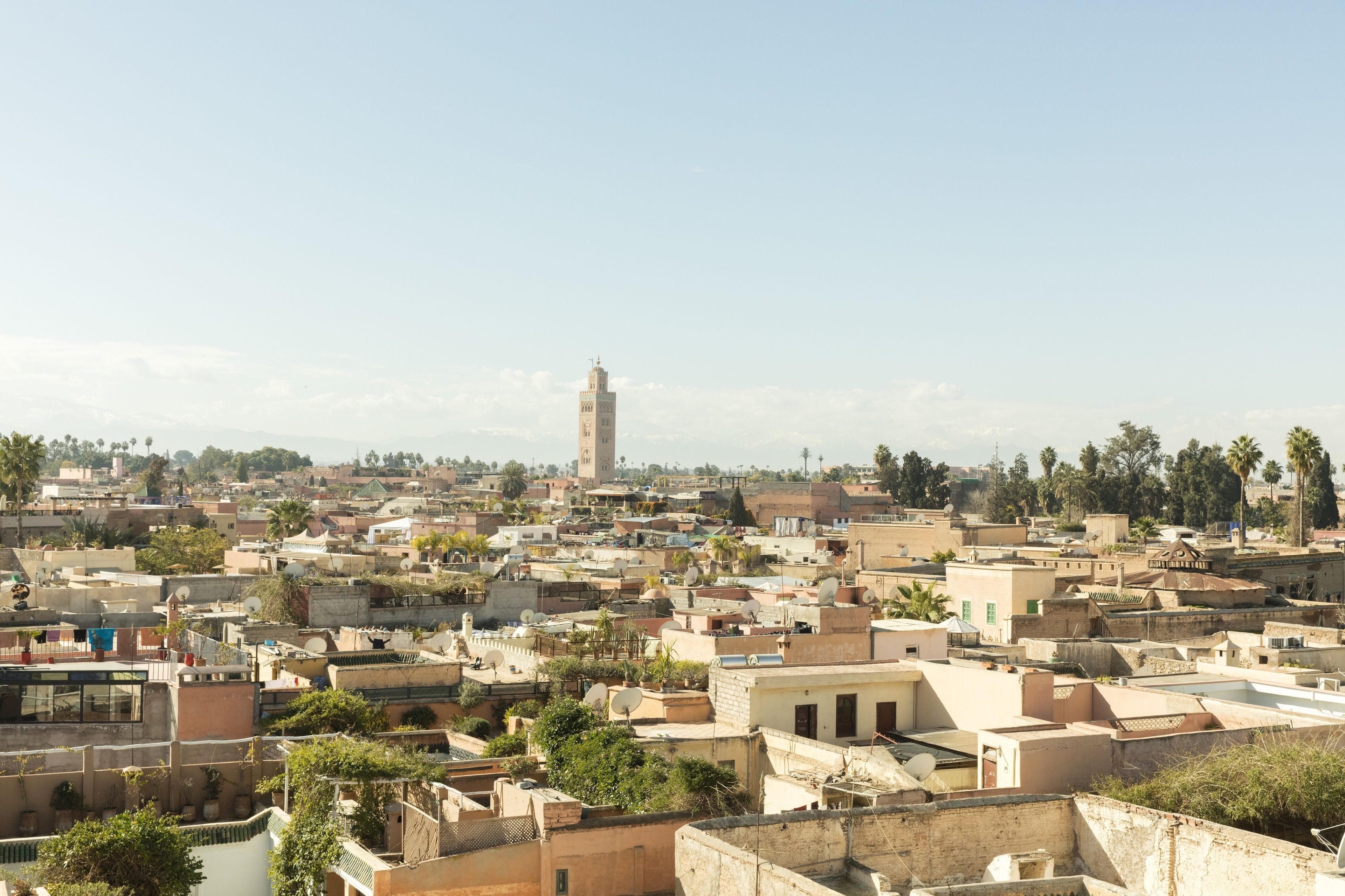 Skyline view of Marrakech, Morocco