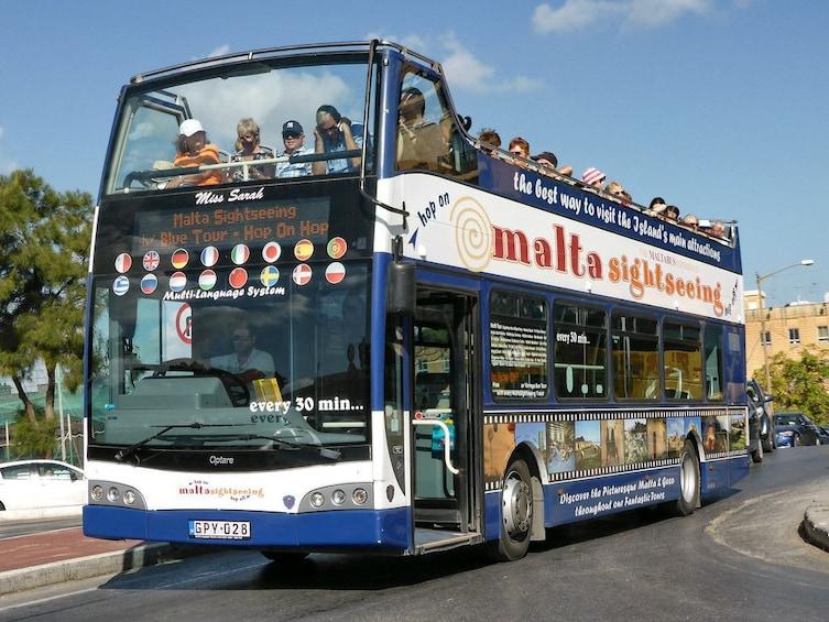 Show item 1 of 8. Maltasightseeing - Malta Hop on Hop off Bus Tour