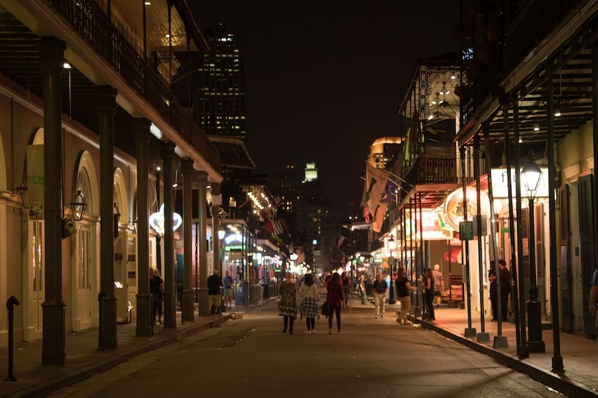 Show item 8 of 8. French Quarter at night in New Orleans